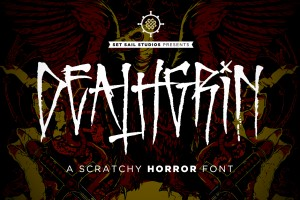 Deathgrin Font by Set Sail Studios
