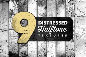 Distressed Halftone Textures