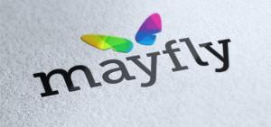 mayfly media logo design by set sail studios