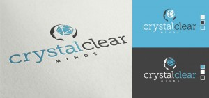 crystal clear minds company logo design by set sail studios