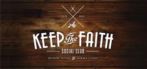 keep the faith social club company logo design by set sail studios