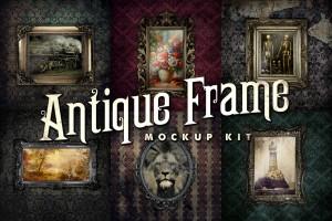 Antique Frame Mockup Kit