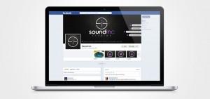 sound inc facebook design by set sail studios