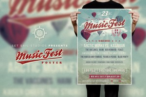 Music Festival Poster Template by Set Sail Studios
