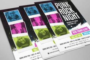 Punk Rock Poster Template by Set Sail Studios