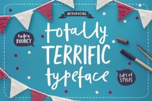 Totally Terrific Typeface by Set Sail Studios