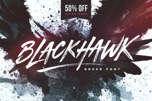 BLACKHAWK brush font by Set Sail Studios