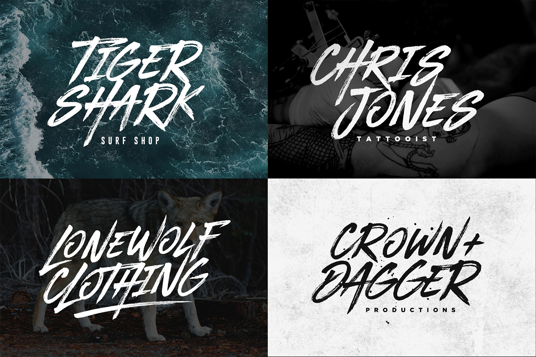 BLACKHAWK brush font by Set Sail Studios