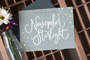November Starlight Font by Set Sail Studios