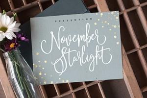 November Starlight Font by Set Sail Studios
