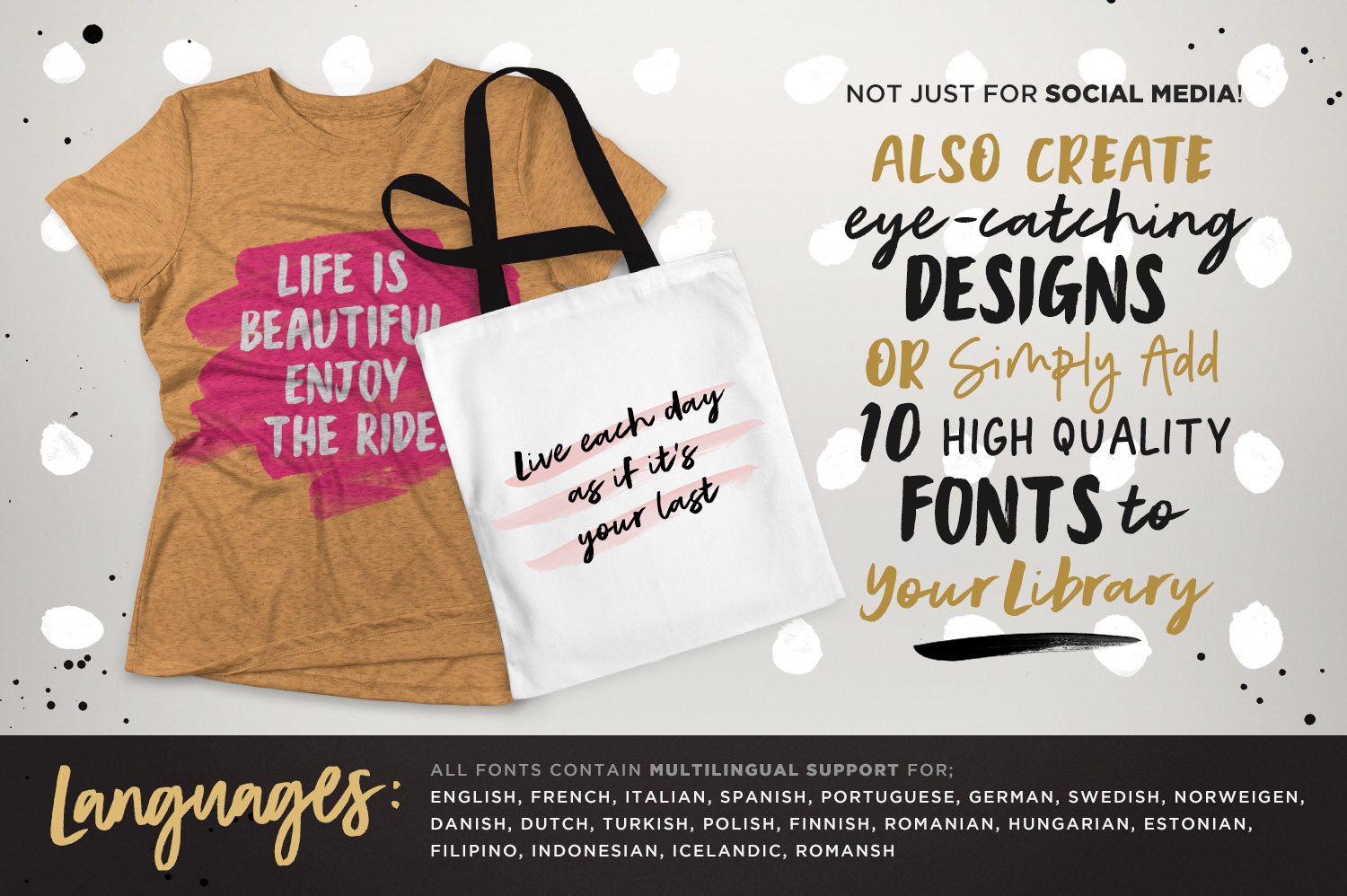Instaquote Lettering Kit by Set Sail Studios