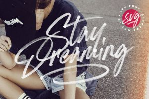 Stay Dreaming SVG Font by Sam Parrett