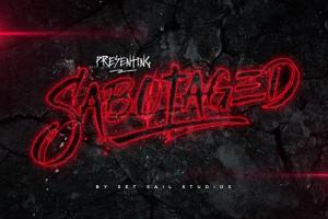 Sabotaged font Set Sail Studios
